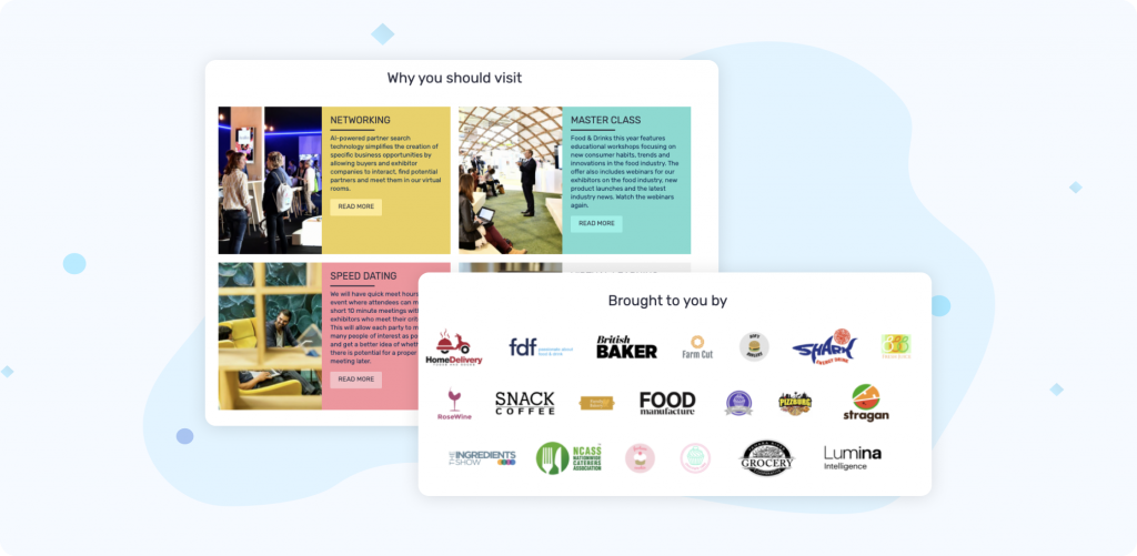 Creating an event microsite